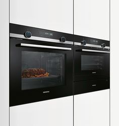 The innovative material combination of brushed blackSteel with optional black or white glass gives the studioLine series its elegant appearance. A concise feature of the oven is the lightControl operation, which provide. Red Dot Design, Front Design, Rotary, The Man Machine, Oven Design, Built In Ovens, Design Awards, Elegant, Locker Storage