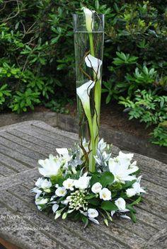 Beautiful White Flower Arrangements In Your Wedding - Centerpieces - Winter Flower Arrangements, Flower Centerpieces, Flower Decorations, Wedding Centerpieces, Wedding Bouquets, Floral Arrangements, Centrepieces, Submerged Centerpiece, White Centerpiece