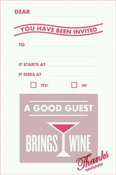 All Invites Should Say This