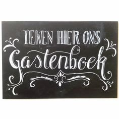 Een krijtbord voor een gastenboek, of wat ook kan: een groot krijtbord als gastenboek. Diy Wedding, Iris, Chalkboard, Wedding Inspiration, Drawings, Party, Guestbook, Creativity, Magic