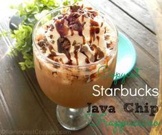 Starbucks Java Chip Frappuccino Copycat Recipe OR Double Chocolate Chip Frappuccino