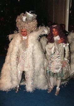 In 1997, Elton John celebrated his 50th birthday dressed as Louis XIV.