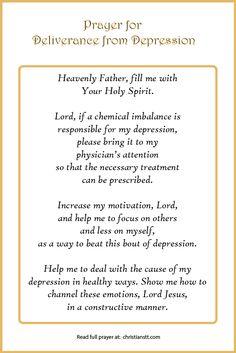 Prayer for Deliverance from Depression