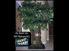 """Video clip of 7' tall  ~Fantasy Cat Tree~ as seen on I WANT THAT Season 6, episode 609  with Beautiful """"Bella"""" http://www.ahiddenhollow.com"""