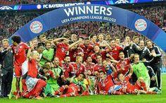 #MejoresImagenesDel2013    El Bayern se consagraba Campeón de la UEFA Champions League.