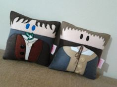 Handmade Lord of the Rings Frodo and Sam Pillow.