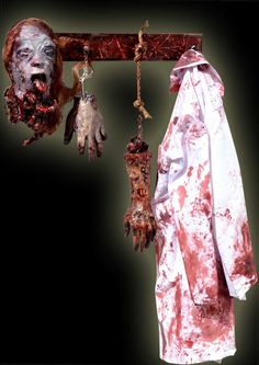 Need to make a bloody apron or lab coat for my butcher shop......