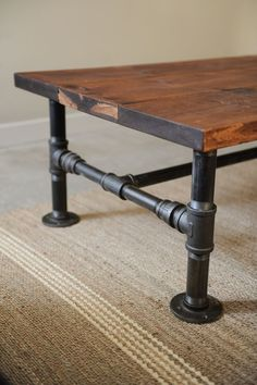 plumbing pipe coffee table....this would also make an interesting long bench for my dining table...no worries about the fabric on the dining seats when the grandkids visit....just need to make the proper height