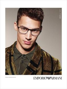 Alessio Pozzi Is the Face of Emporio Armani Eyewear FW17 Collection