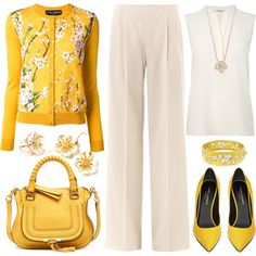 Not a yellow kinda gal but I would totally wear this!  Untitled #1082, created by emmafazekas on Polyvore
