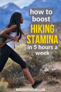 Hiking Discover How to increase stamina when you have limited training time Miss Adventure Pants Need more time to train for hiking backpacking or mountaineering? Heres how to increase your stamina and cardiovascular endurance in under 5 hours a week. Backpacking Tips, Hiking Tips, Camping And Hiking, Hiking Gear, Hiking Backpack, Camping Ideas, Ultralight Backpacking, Winter Camping, Camping Hammock