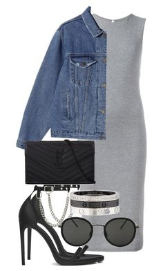 Sem título #2362 by mariandradde on Polyvore featuring polyvore fashion style T By Alexander Wang Yves Saint Laurent Cartier Linda Farrow clothing AlexanderWang