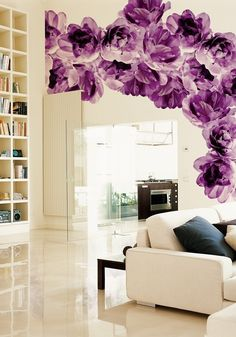 ONE DAY!!!! I WILL PAINT LOVELY GIANT FLOWERS ON MY WALL JUST LIKE THIS