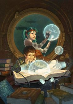 Steampunk Tendencies | New Illustration by Antonio Caparo #Digitalart #Illustration #Steampunk