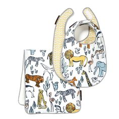 DwellStudio Safari Bib & Burp Set