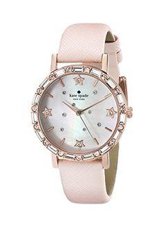 kate spade new york Women's 1YRU0685 Metro Analog Display Japanese Quartz Pink Watch -
