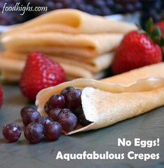 Simple aquafabulous crepes