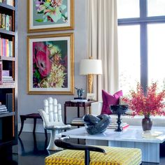 ICONIC HAND CHAIRS: Pedro Friedeberg's iconic #chair in a colorfully eclectic #modern living room