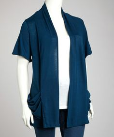 Take a look at this Teal Cardigan - Plus by Yummy on #zulily today!