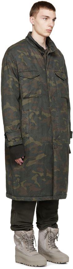 YEEZY Season 1 Brown & Green Camouflage Trenchcoat