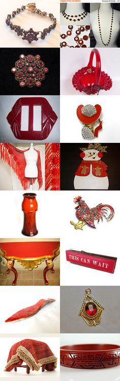 I Am Only Seeing Red on Vogue Team A Treasury