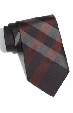 Burberry London Woven Silk Tie | Nordstrom -- I'm a total sucker for the oversized check print