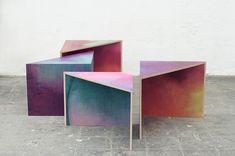 Somewhere I would like to live: Wooden aquarelle by Meike Harde