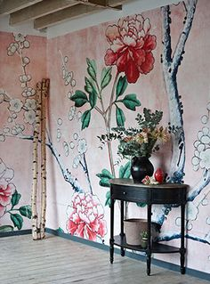Get 15% off 'Pink Floral Wallpaper' from the V&A Collection at surfaceview.co.uk