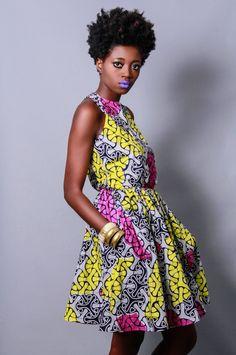 NEW+The+Nife+Dress+100+Holland+Wax+Cotton+by+DemestiksNewYork,+$140.00
