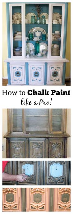 Are you a messy beginning painter? Then chalk painting is for you! Details on how to chalk paint furniture with tips that include brush selection, preparation and application, Marty's Musings shows how to turn an outdated piece of furniture into a beauty!