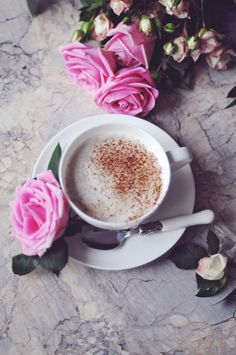 #roses #coffee #breakfast #table #morning