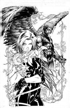 Turner Michael & Finch David - Wizard Special Edition Cover - Original Art Comic Art