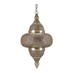 Hanging lamp which illuminates the elaborate geometric patterning.