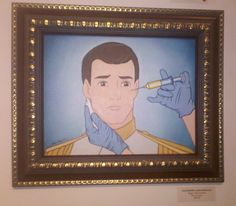 One day my prince will come... once he finishes up his botox (local art found in the art gallery at Wacko)