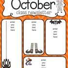 October newsletter freebie by Simply Delightful in Second Grade Newsletter Format, Class Newsletter, Preschool Bible, Preschool Lesson Plans, Teacher Organization, Teacher Hacks, Daycare Curriculum, Childcare, New Classroom