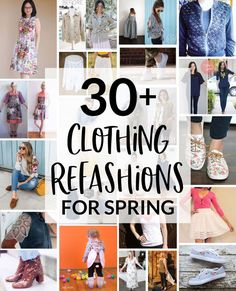 30 Clothing Refashion Projects Perfect for Spring - DIY Clothes Ideen Diy Clothes Life Hacks, Clothing Hacks, Clothing Items, Upcycled Clothing, Clothing Websites, Shoe Refashion, Clothes Refashion, Refashioned Clothes, Diy Kleidung Upcycling