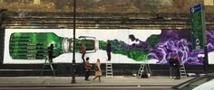 Grolsch Literally Puts 400 Bottles of Beer on a Wall to Mark the Brand's Quadricentennial – Adweek Grolsch Beer, Beer Week, Guerilla Marketing, Yarn Bombing, Beer Garden, Guerrilla, Good Ol, East London, Street Artists