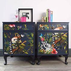 Upcycled Furniture Diy Dresser Home Decor Ideas Decoupage Furniture, Hand Painted Furniture, Upcycled Furniture, Furniture Projects, Furniture Makeover, Vintage Furniture, Bedroom Furniture, Diy Furniture, Furniture Design
