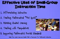 Guided Math: Using Guided Math with Small Groups