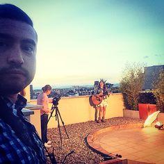 Aaaaa #DiosFiel por permitirme hacer una de las cosas que mas me gusta. #Video #single @GloriaRodriguez #unbuendía #recording