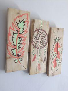 peinture sur lame de bois l 39 arbre aux couleurs lame de. Black Bedroom Furniture Sets. Home Design Ideas