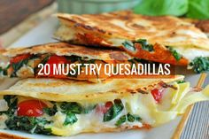 If you've got tortillas and a few fillings, you've got quesadillas! Here are 20 vegetarian recipes that are super easy and full of melty, veggie goodness.