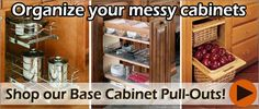 bottom kitchen cabinet organizers - Google Search Inside Kitchen Cabinets, Base Cabinets, Cabinet Organizers, Kitchen Cabinet Organization, Bathroom Medicine Cabinet, Shoe Rack, Shelves, Google Search, Shelving