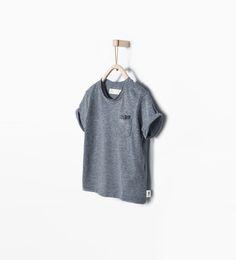 T-shirt with pocket-Organic cotton-Baby boy (3 months - 3 years)-KIDS   ZARA United States