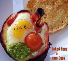 baked eggs in ham cups!