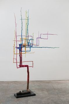 Evan Holloway at Xavier Hufkens.   You could easily 3Doodler yourself some modern art just like this! Doodle yourself a 'Talking piece!'  #Art #WhatWillYouCreate?