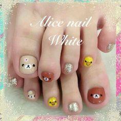 懶熊 Nail Picking, Nail Art For Kids, Toe Nails, Bella, Nailart, Cartoons, Beauty, Toenails Painted, Craft