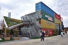 Monaco Pavilion is built with shipping containers