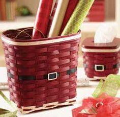 Santa Belly Waste Basket - Longaberger