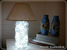 decorar sustentável: Um abajur...